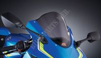 DOUBLE BUBBLE WINDSCREEN SMOKED-Suzuki